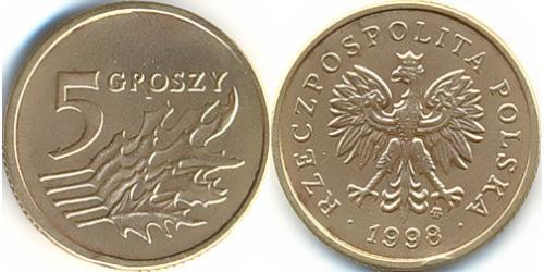 5 Грош Республика Польша (1991 - ) Латунь