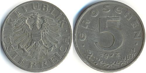 5 Грош Оккупированная Австрия (1945-1955) / Австрийская Республика(1955 - ) Цинк