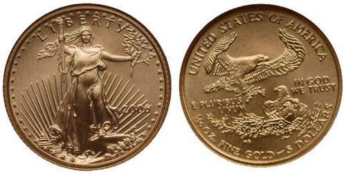 5 Долар США (1776 - ) Золото