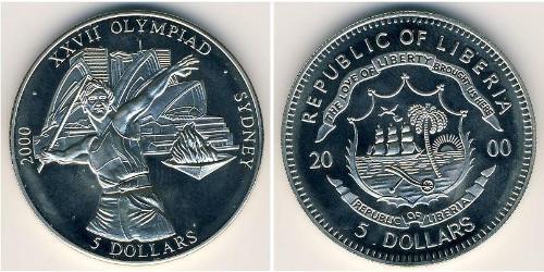 5 Доллар Либерия Никель/Медь