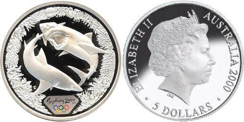 5 Доллар Австралия (1939 - ) Серебро Елизавета II (1926-)