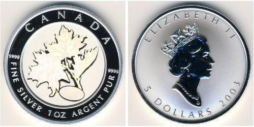 5 Доллар Канада Серебро