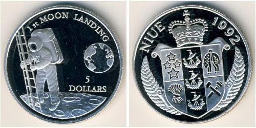 5 Доллар Ниуэ Серебро