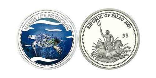 5 Доллар Палау Серебро
