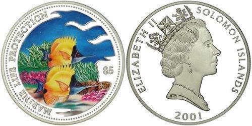 5 Доллар Соломоновы Острова Серебро
