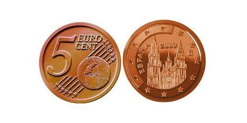 5 Евроцент Королевство Испания (1976 - ) Сталь/Медь