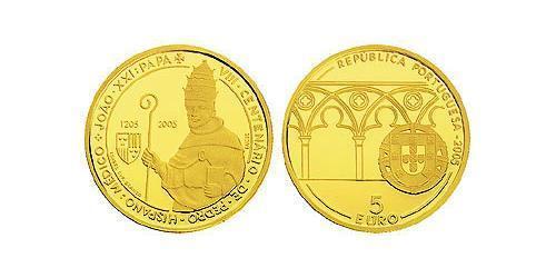 5 Евро Португальская Республика (1975 - ) Золото