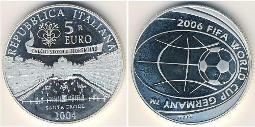 5 Евро Италия Серебро