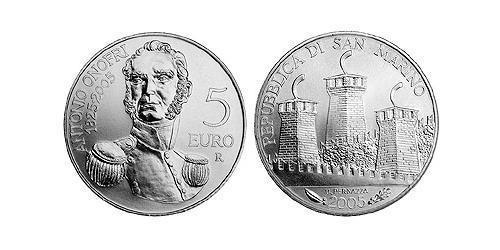 5 Евро Сан-Марино Серебро