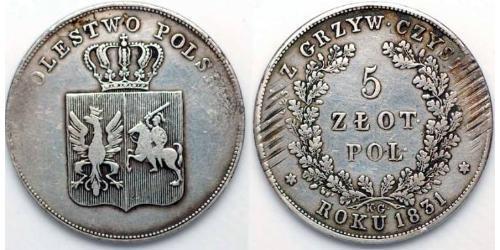5 Злотий Царство Польське (1815-1915) Срібло