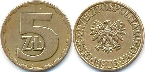 5 Злотый Польская Народная Республика (1952-1990) Латунь
