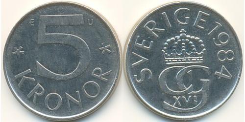 5 Крона Швеция Никель/Медь