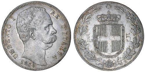 5 Ліра Kingdom of Italy (1861-1946) Срібло Умберто I (1844-1900)