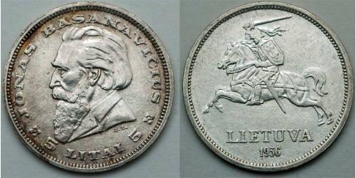 5 Літ Литва (1991 - ) Срібло