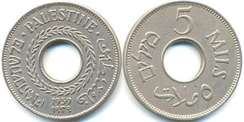 5 Миль Израиль (1948 - ) Никель/Медь