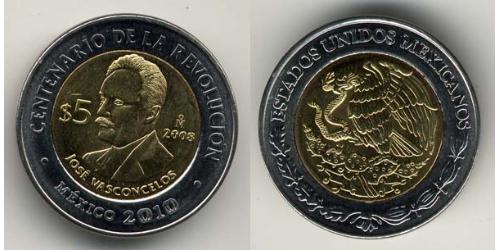 5 Песо Соединённые Штаты Мексики (1867 - ) Биметалл