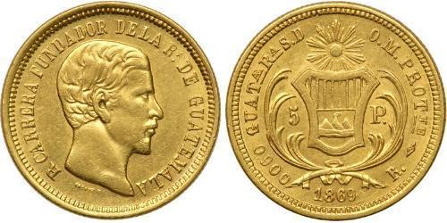 5 Песо Гватемала Золото