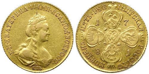 5 Рубль Российская империя (1720-1917) Золото Екатерина II (1729-1796)