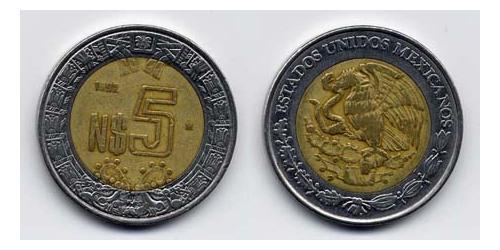 5 Сентаво Соединённые Штаты Мексики (1867 - ) Биметалл