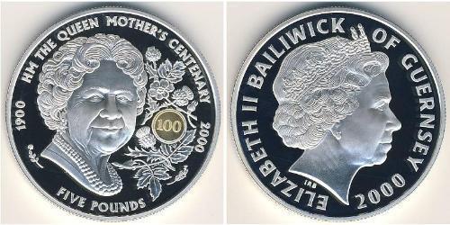 5 Фунт Гернси Серебро