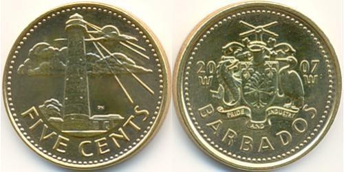 5 Цент Барбадос Латунь
