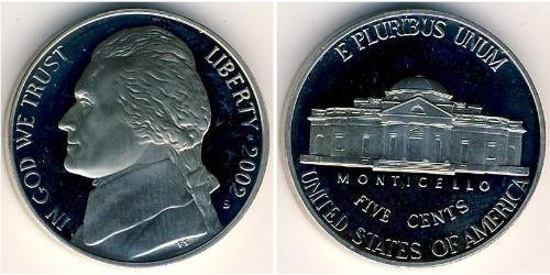 5 Цент США (1776 - ) Никель/Медь
