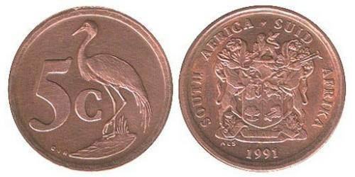 5 Цент Южно-Африканская Республика Сталь/Медь