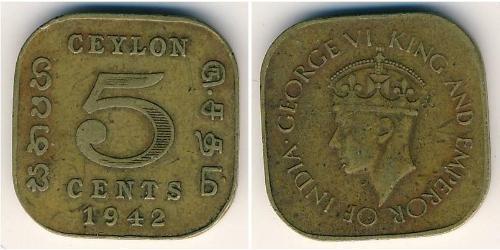 5 Цент Шрі Ланка/Цейлон
