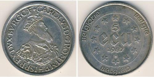 5 Экю Бельгия Серебро