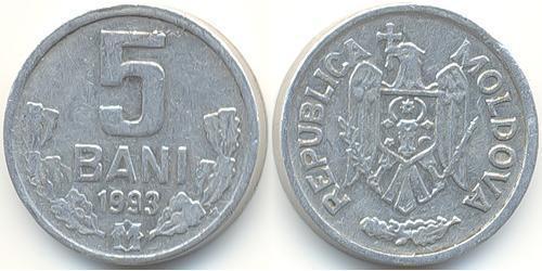 5 Ban Moldavia (1991 - ) Alluminio