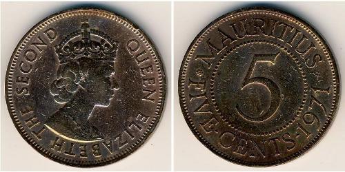 5 Cent Mauritius Bronzo