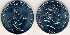 5 Cent Cook Islands Copper-Nickel Elizabeth II (1926-)