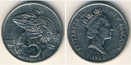 5 Cent Nouvelle-Zélande Cuivre/Nickel