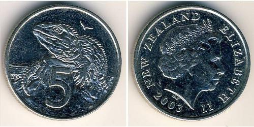 5 Cent Neuseeland Kupfer/Nickel
