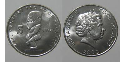 5 Cent Cook Islands Copper/Nickel Elizabeth II (1926-)