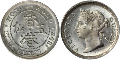5 Cent Hong Kong Plata Victoria (1819 - 1901)