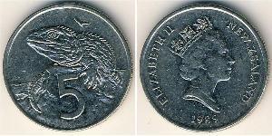 5 Cent Nuova Zelanda Rame/Nichel