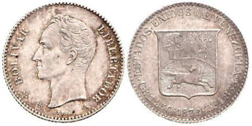 5 Centavo Venezuela Silber
