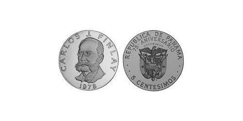 5 Centesimo Republic of Panama Copper/Nickel Carlos Finlay (1833 – 1915)