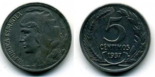 5 Centimo Second Spanish Republic (1931 - 1939) Iron