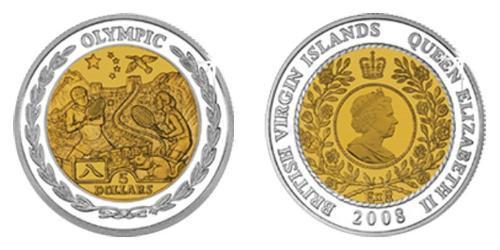 5 Dólar Islas Vírgenes Bimetal