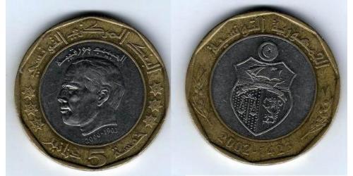 5 Dinar Tunisia Bimetal