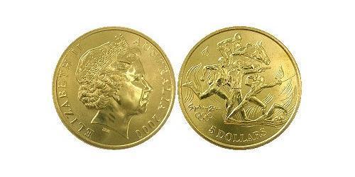 5 Dollar Australia (1939 - ) Brass Elizabeth II (1926-)