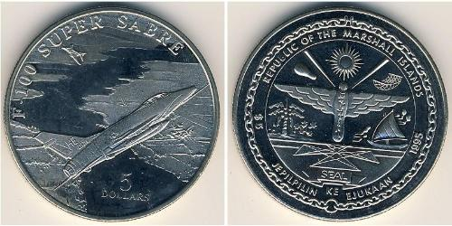 5 Dollar Marshall Islands Copper/Nickel