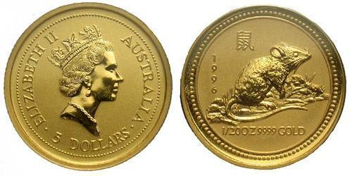 5 Dollar Australia (1939 - ) Gold Elizabeth II (1926-)