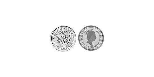 5 Dollar Australia (1939 - ) Platinum Elizabeth II (1926-)