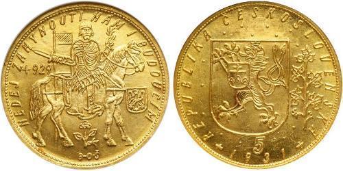 5 Ducat Tschechoslowakei  (1918-1992) Gold