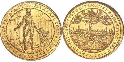 5 Ducat Electorate of Bavaria (1623 - 1806) Oro Maximiliano I, duque y elector de Baviera(1573 – 1651)