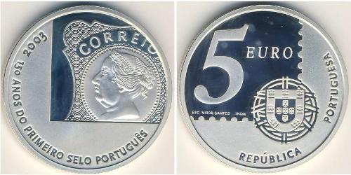 5 Euro Republica Portuguesa (1975 - ) Silber