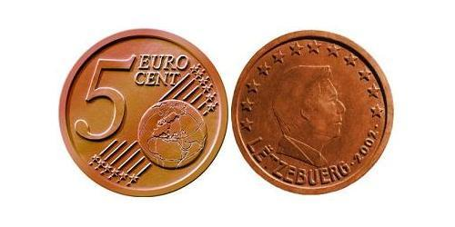 5 Eurocent Luxembourg Steel/Copper
